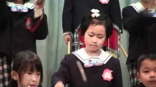 幼稚園での合唱「旅立ちの日に」