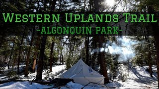 Late Season Winter Camping on the Western Uplands Trail