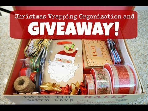Christmas Wrapping Organization and Giveaway