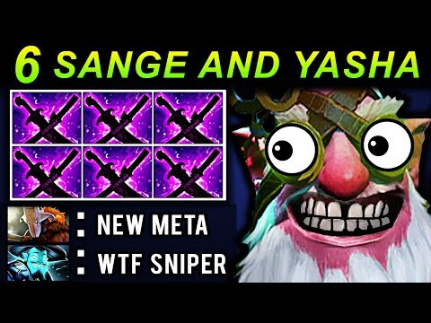 6 SANGE AND YASHA SNIPER - DOTA 2 PATCH 7.07 NEW META PRO GAMEPLAY