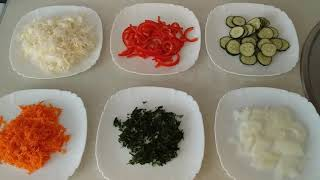 Салат летний  капуста, огурец, морковь и сладкий перец