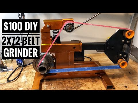 $100 Homemade 2X72 Belt Grinder Review