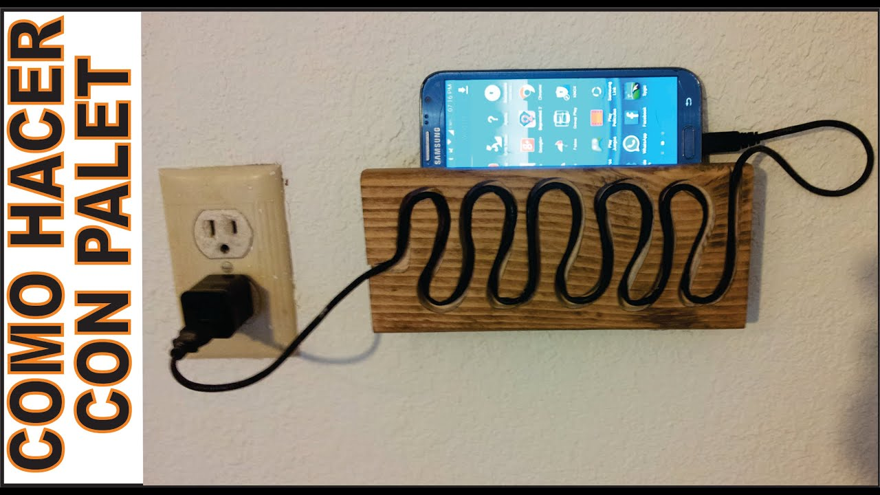 Diy c mo hacer un soporte de pared para tablet for Como hacer un perchero de pared