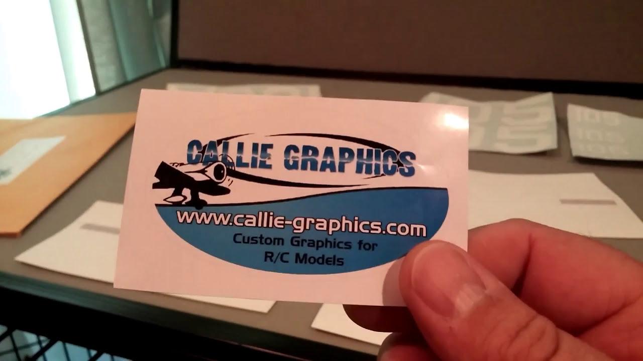 Callie graphics kit for flightline Bearcat radio control airplane