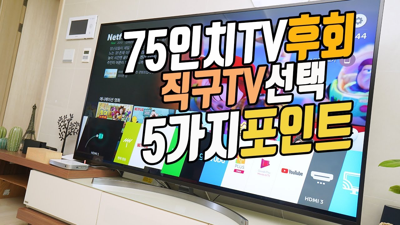 블랙프라이데이 직구 TV 고민 해결! 75인치 TV 후회? OLED TV 번인? QLED TV 고민?