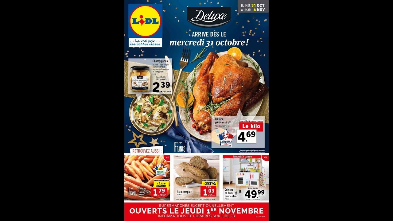 Lidl France 31 10 06 11 2018 Catalogue Youtube