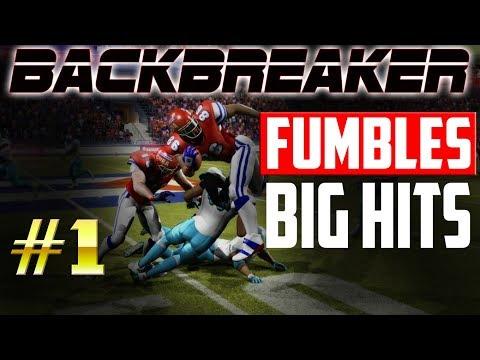 🏈 Backbreaker Fumbles & Big Hits #1 | Backbreaker Football Highlights | International Football