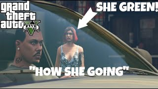 """HOW SHE GOING"" (GTA 5 FUNNY SKIT BY DRAMA SETS IN) #AYOY"