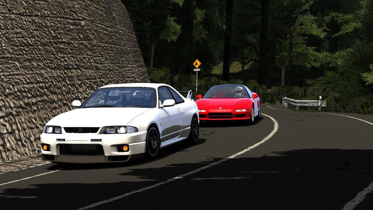 Tsuchisaka Touge Battle! R33 GT-R vs NSX - Assetto Corsa VR [Oculus Rift]