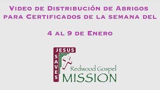 Video de Distribución de Abrigos para Certificados de la semana del 4 al 9 de Enero