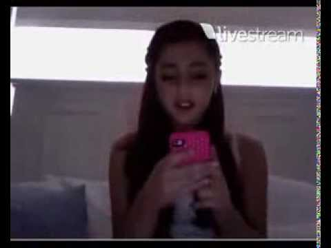 Ariana Grande raps 'Superbass' on a LIVE CHAT