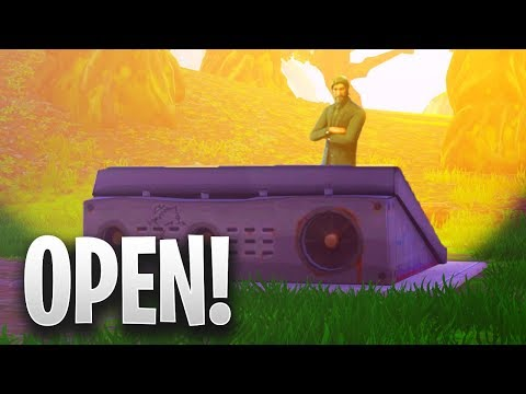 "Don't look now.. but the ""Secret Bunker"" has OPENED in Fortnite! (NEW UPDATE!)"