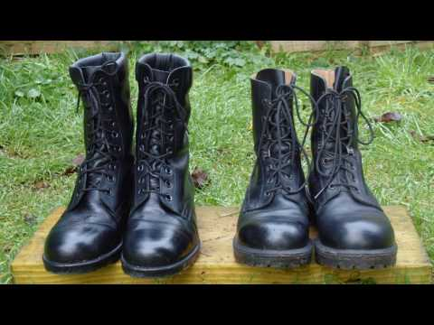 Army Boots Comparison - Greek Army Boots Vs British Army Boots