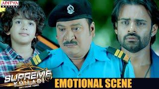 Sai Dharam Tej & Rajendra Prasad  Emotional Scene || Supreme Khiladi Latest Hindi Dubbed Movie