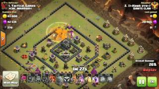 TH9 GOLEM VALK ATTACK IN WAR