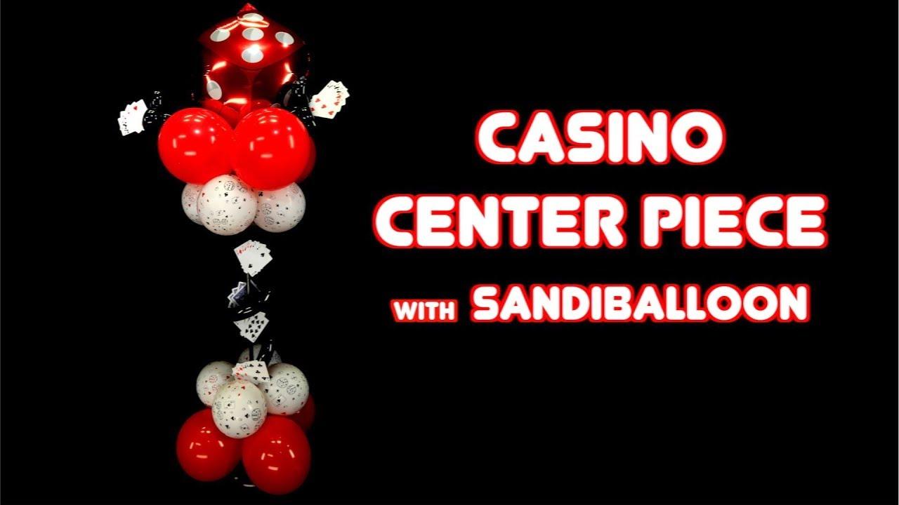 Casino Theme Centerpiece ~ Balloon Decoration Tutorial