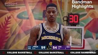 Charles Matthews Michigan vs LSU/ 11.20.17/ Career-High 28pts 8rebs