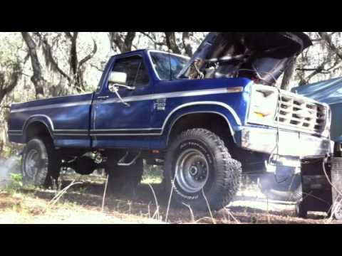 1985 ford f350 cold crank 6 9 diesel youtube. Black Bedroom Furniture Sets. Home Design Ideas