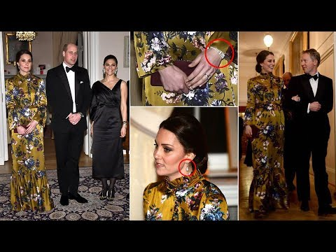 Kate pays touching TRIBUTE to Princess Diana as she attends dinner with Swedish royal family
