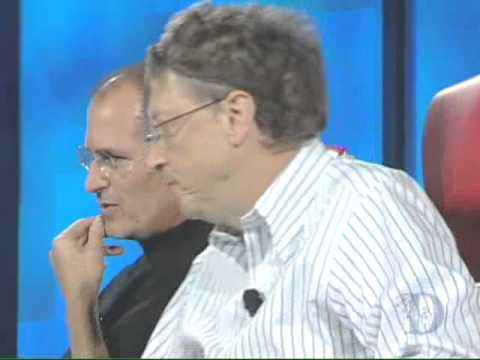Interview Steve Jobs and Bill Gates by Kara Swisher and Walt Mossberg at D5 Conference 2007.avi
