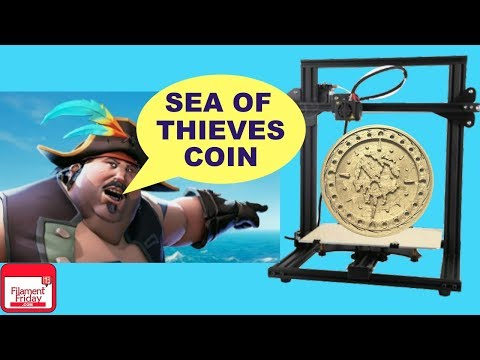 Sea Of Thieves 3D Printed Coin