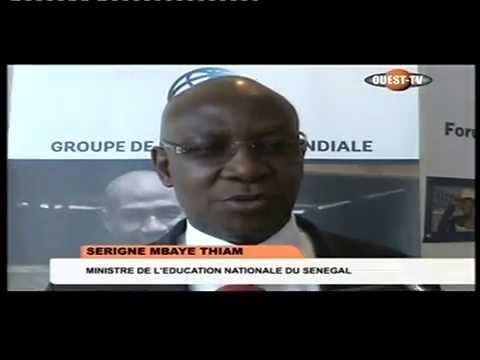 Banque Mondiale :  Forum sur inclusion des jeunes (Ouest TV-J2)