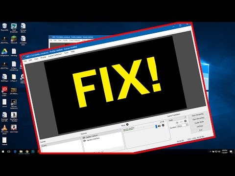 OBS Blackscreen Fix For Windows 10 Laptops | 2017 | Nvidia