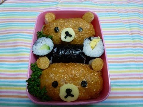 How To Make Bento(#6 Cute Rilakkuma Bento)50th Video