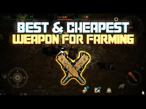 THE BEST AND CHEAPEST WEAPON TO FARM ZONES ! - Last Day On Earth: Survival