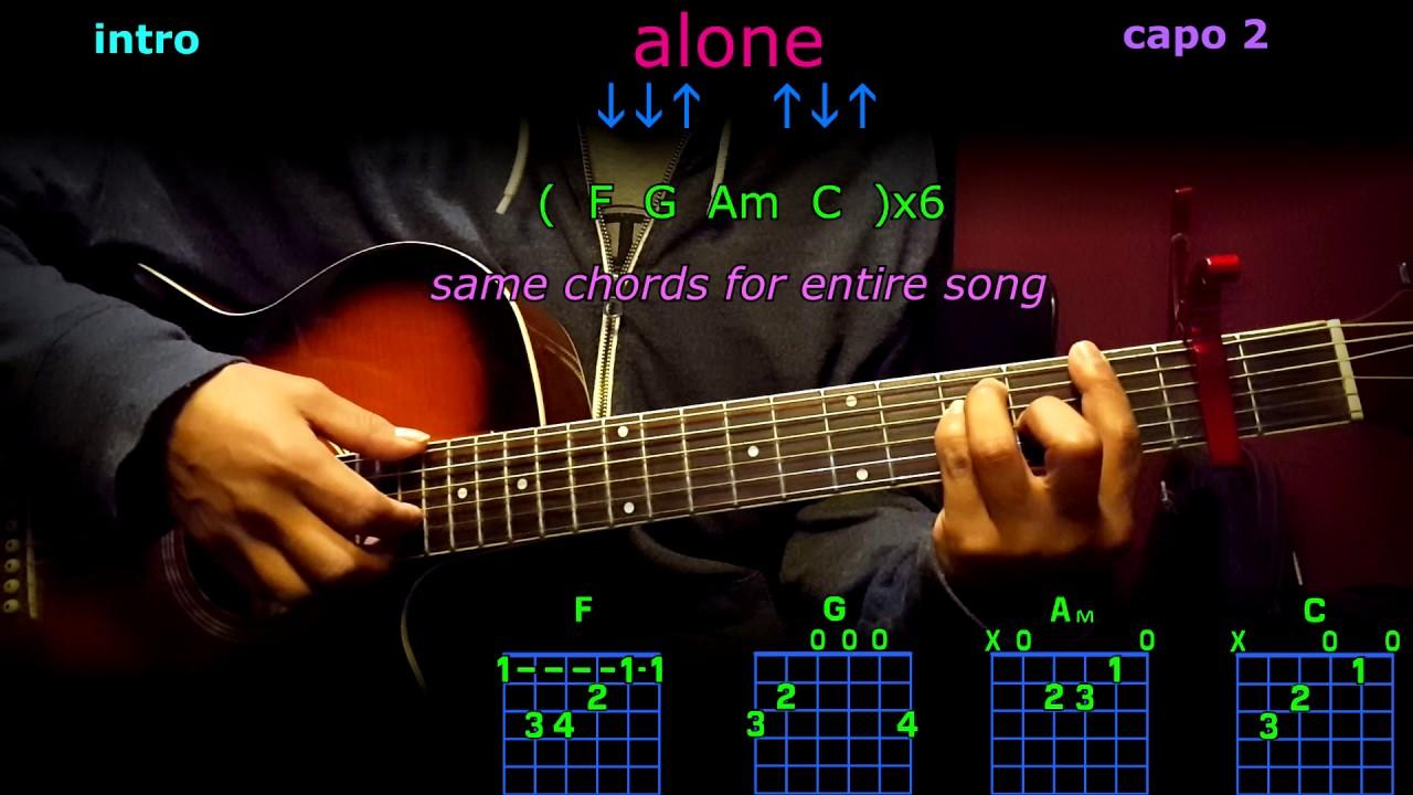 Alone Marshmellow Guitar Chords Youtube