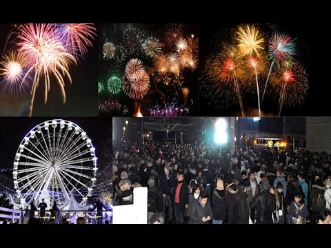 the new year 2017 celeberations in birmingham west midlands uk
