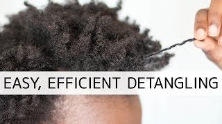 How To Easily Detangle Natural Hair