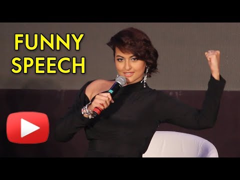 Sonakshi Sinha FUNNY SPEECH at HT Style Awards 2018