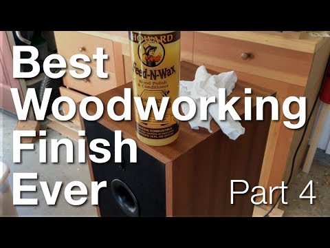 Best Woodworking Finish Ever - Part 4: Burnishing & Wax