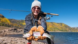 Her FIRST Rainbow Trout Catch! COLORADO MOUNTAIN FISHING