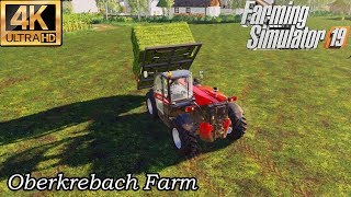 Weeding, Feeding, making bales ★Farming Simulator 2019 Timelapse★Oberkrebach Farm #12