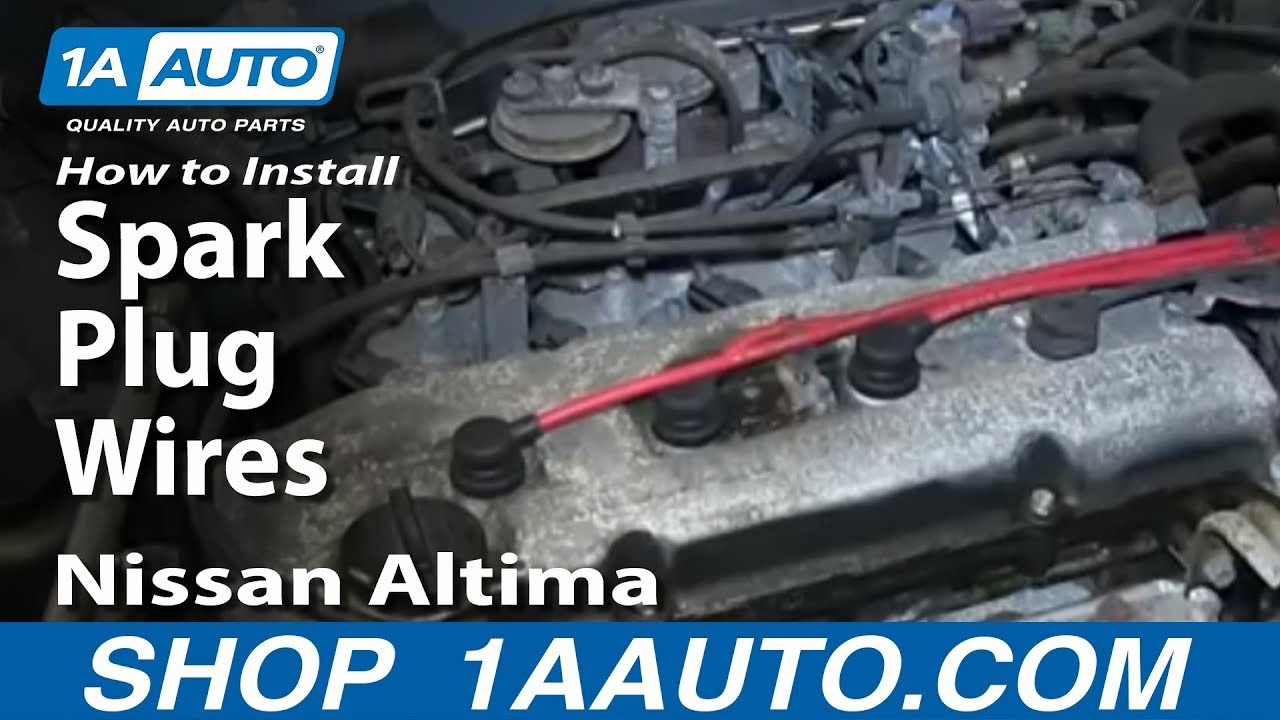 how to install change spark plug wires nissan altima 2 4l [ 1280 x 720 Pixel ]