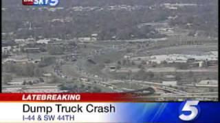 Dump Truck Crash Backs Up I-44