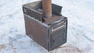 как сделать печь в баню своими руками из металла