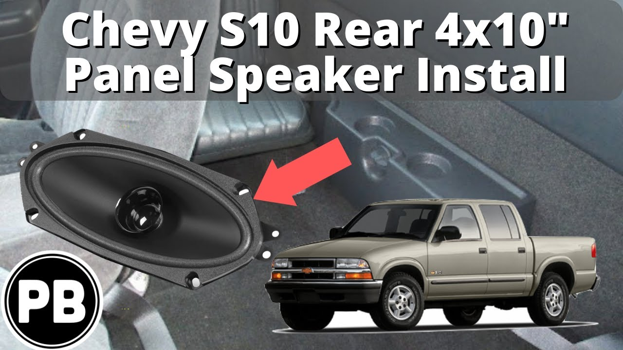 small resolution of 1998 2004 chevy s10 blazer jimmy sonoma rear panel speaker install