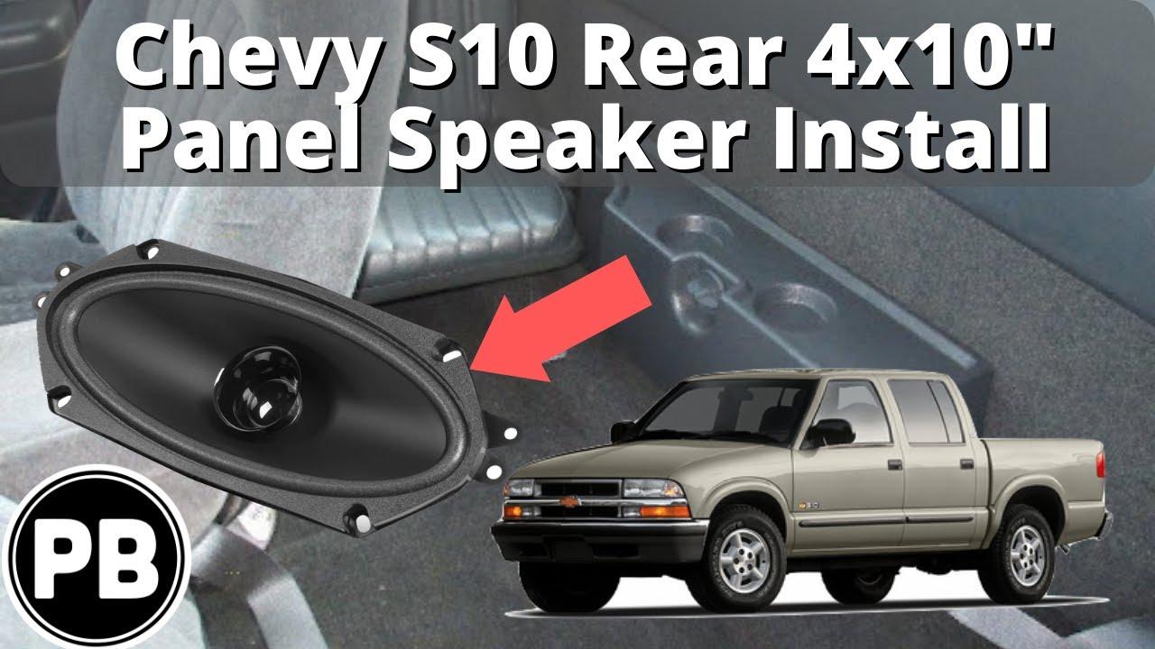 small resolution of 1998 2004 chevy s10 blazer jimmy sonoma rear panel speaker install