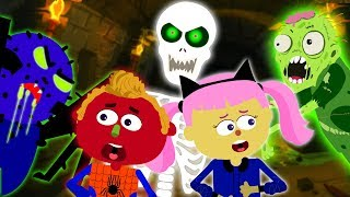 Halloween Songs for Kids With Funny Halloween Creatures in Haunted Tunnel Nursery Rhymes Teehee Town