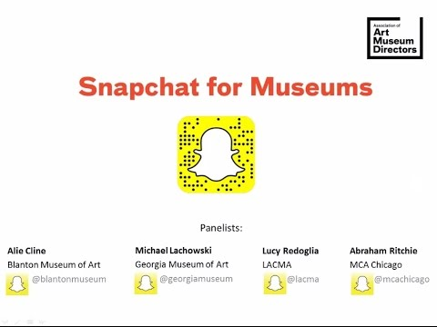 Snapchat for Museums Webinar