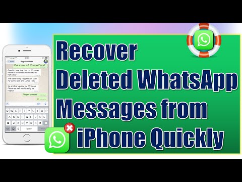 How to get back a chat you deleted on whatsapp on iphone
