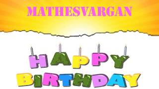 Mathesvargan Birthday Wishes & Mensajes