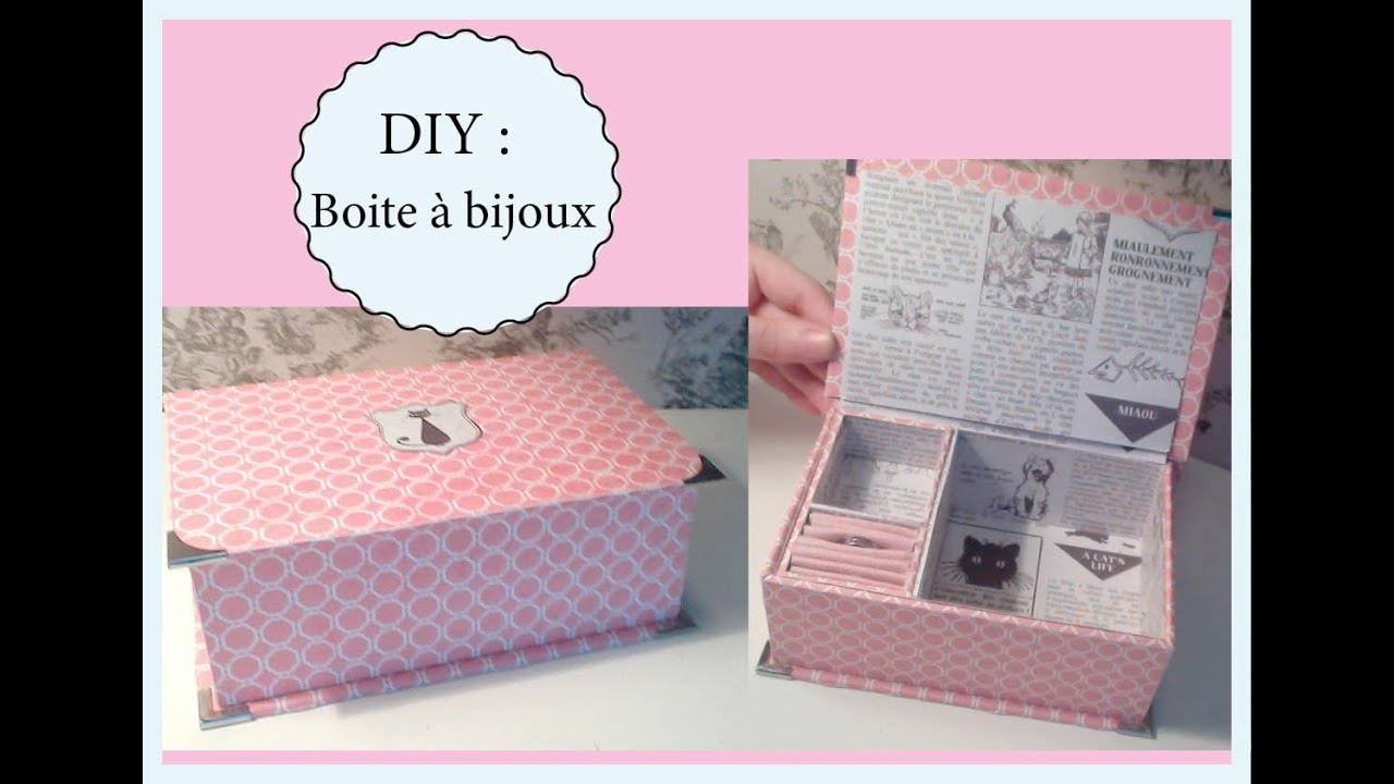 Diy boite a bijoux youtube for Cadeau decoration interieur