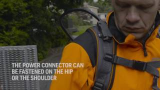 How to adjust the Husqvarna backpack battery