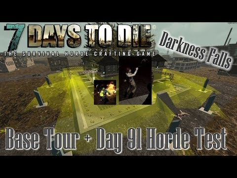 Base Tour + Behemoths & Bombers VS Prison! | 7 Days to Die | Alpha 16 Darkness Falls Mod | Gameplay