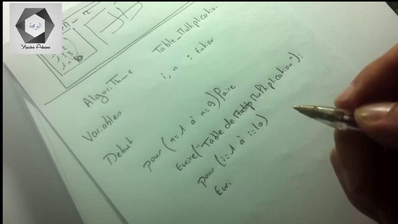 Algorithme Darija | Exercices Simple N°9 ( Table de ...