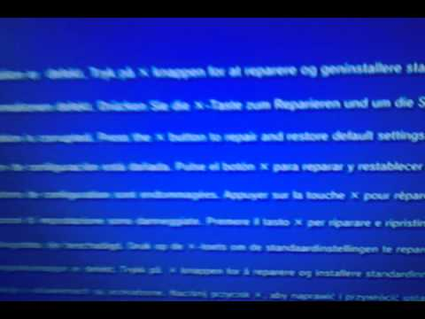 how to fix red screen of death ps3